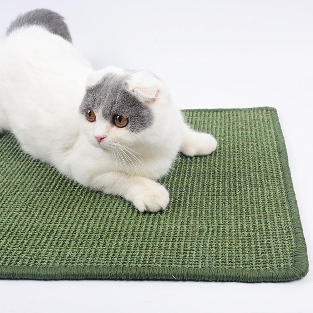 Cat Sisal Cat Scratch Board Food Sleeping Mat Cushion Carpet Pet Toy Claw Care 30*40 (random colour)