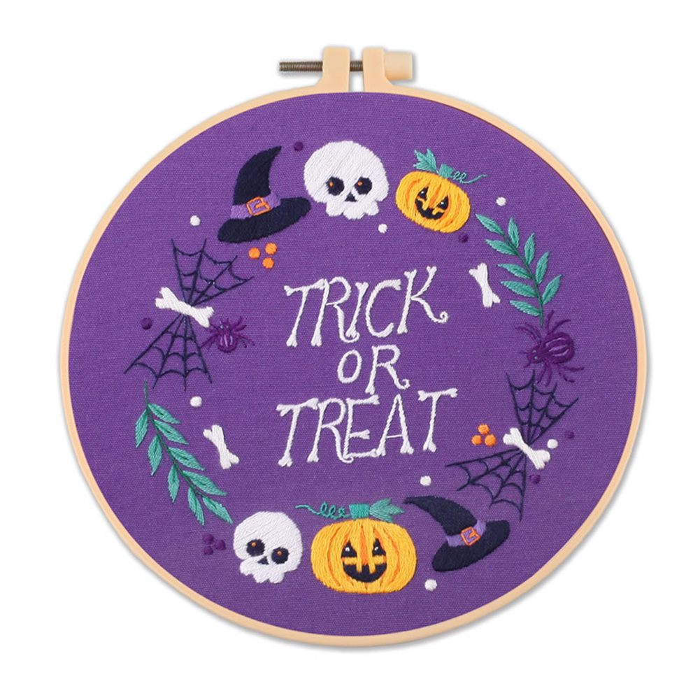 Embroidery Diy  Material  Kit Halloween Style Embroidery Tools Accessories Halloween S357 Embroidery Material Pack