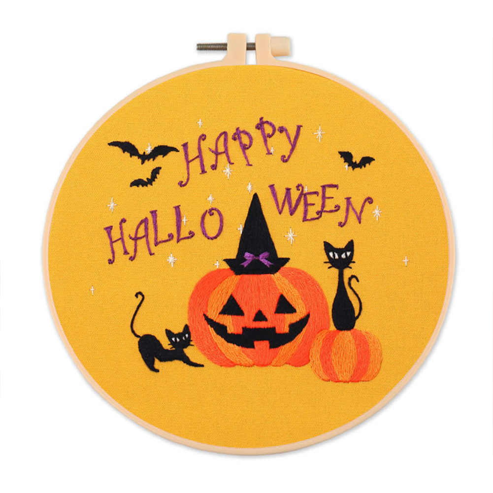 Embroidery Diy  Material  Kit Halloween Style Embroidery Tools Accessories Halloween S355 Embroidery Material Pack