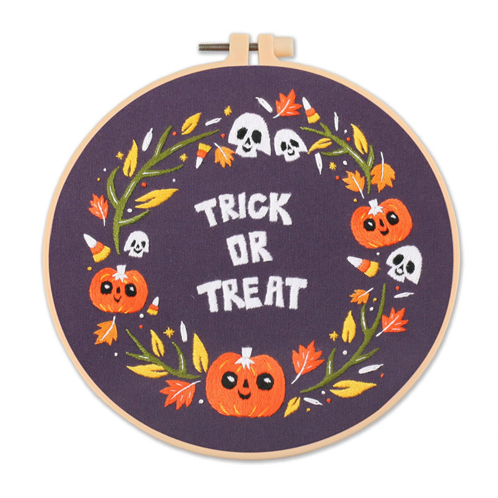 Embroidery Diy  Material  Kit Halloween Style Embroidery Tools Accessories Halloween S356 Embroidery Material Pack