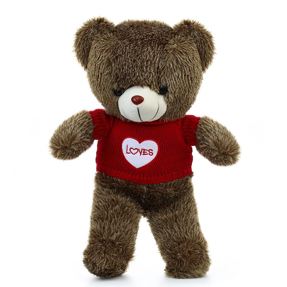 [EU Direct] Plush Stuffed Animals Giant Teddy Bear with Red Love Sweater 60CM