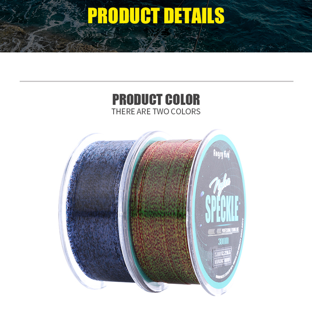 328Y/300M Nylon Speckle Fishing Line Abrasion Resistant Spot Monofilament Line  Discoloration spot_1.5
