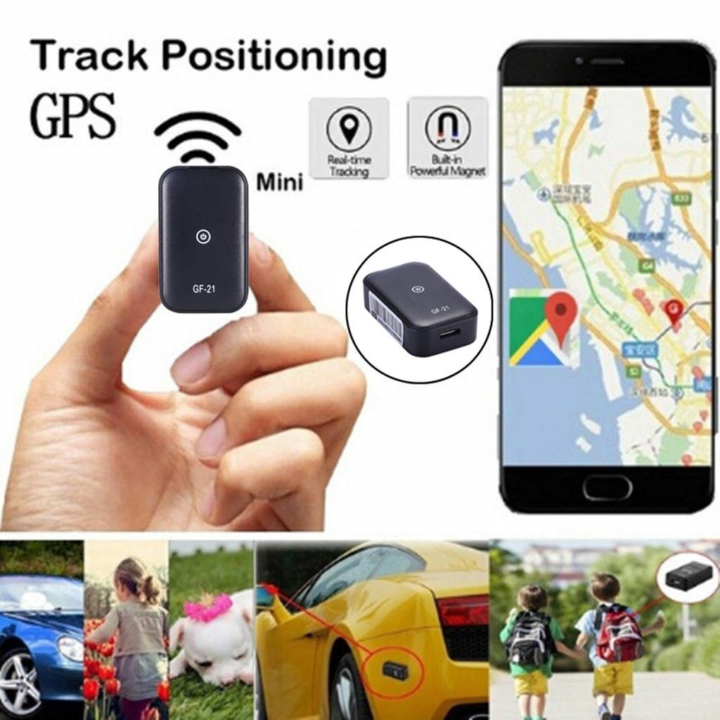 Gf21 Gps+ WiFi Tracker Long Standby Alarm Driving Record Locator black