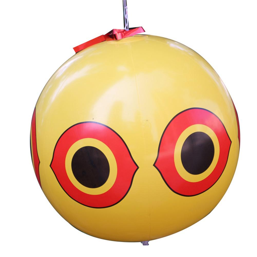 Scare Eye Bird  Repellent Eyes Balloons toy For Outdoor Beach Farm Yellow