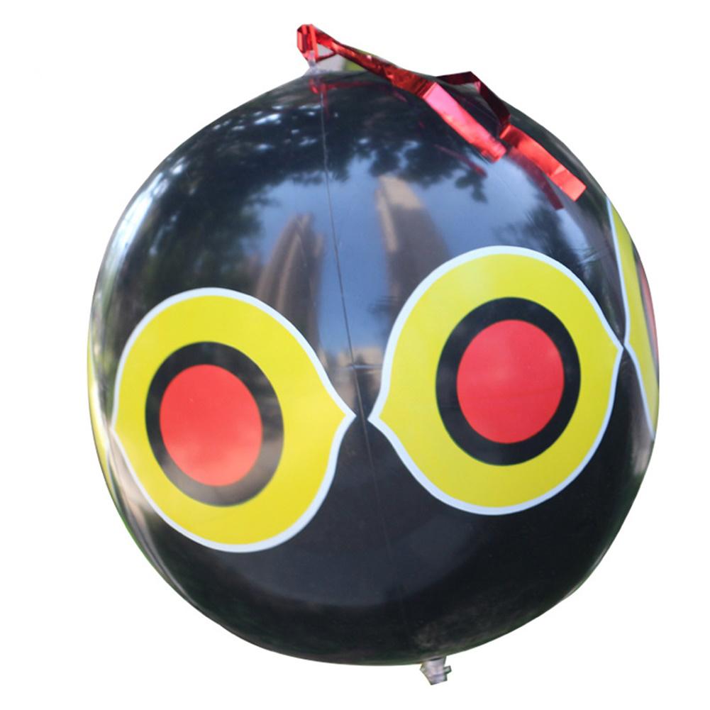 Scare Eye Bird  Repellent Eyes Balloons toy For Outdoor Beach Farm Black