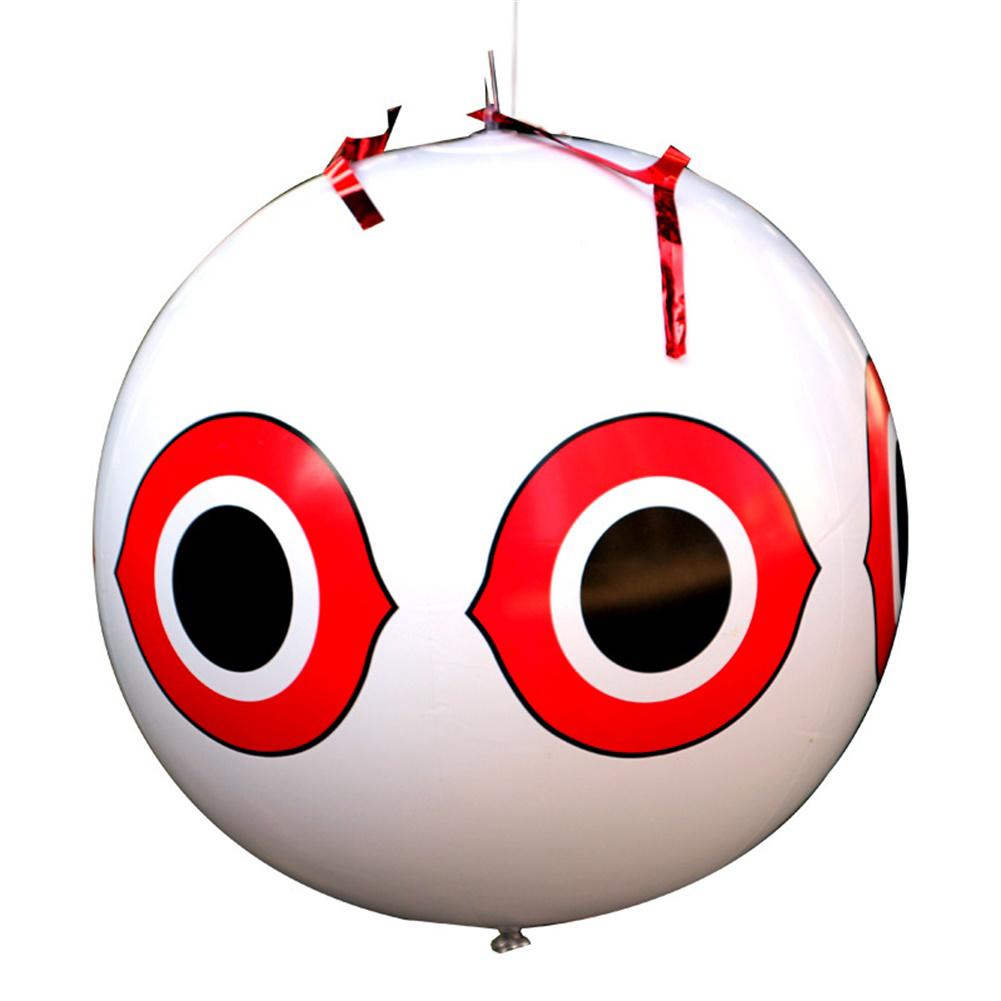 Scare Eye Bird  Repellent Eyes Balloons toy For Outdoor Beach Farm White