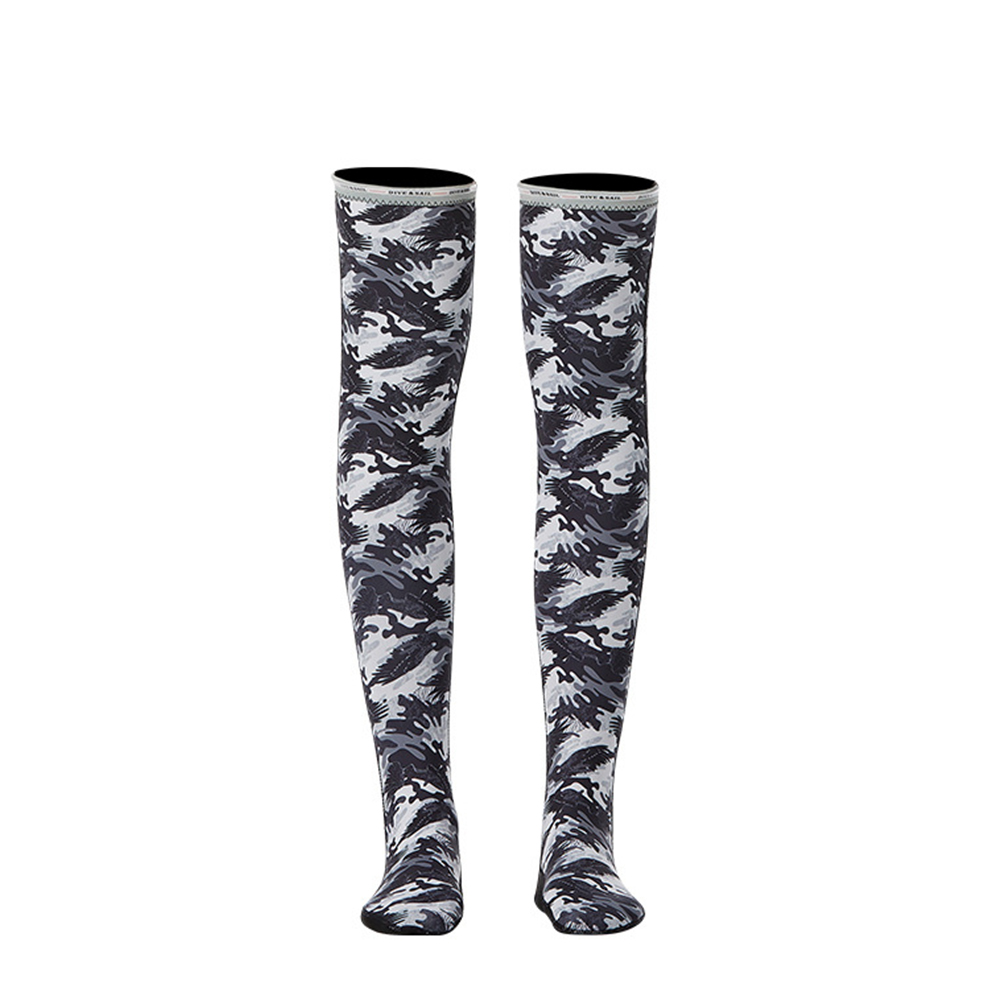 1.5MM Siamese Wet-type Warm Long Sleeve Jellyfish Swimming Surfing Stocking Suit Camouflage stockings_M