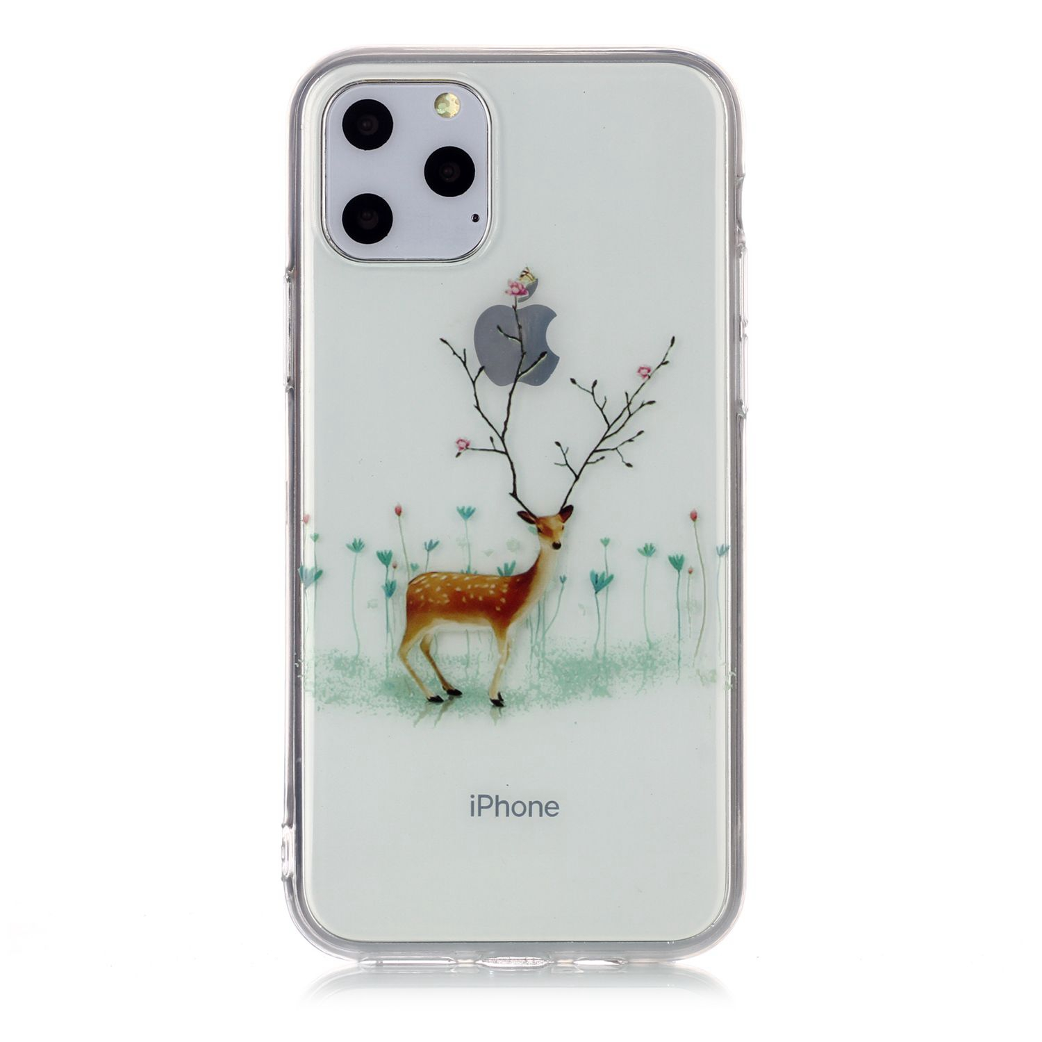 For Apple iPhone11 Pro Max Mobile Shell Soft TPU Phone Case Smartphone Cover Elk Snow Christmas Series Pattern Protective Shell