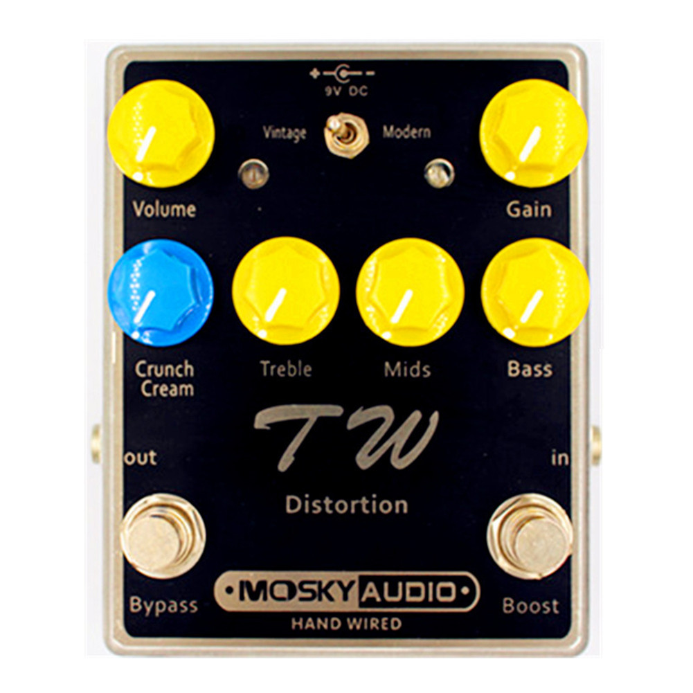TW Electric Guitar Effector Manual Effector High Gain Distortion Effect Pedal black