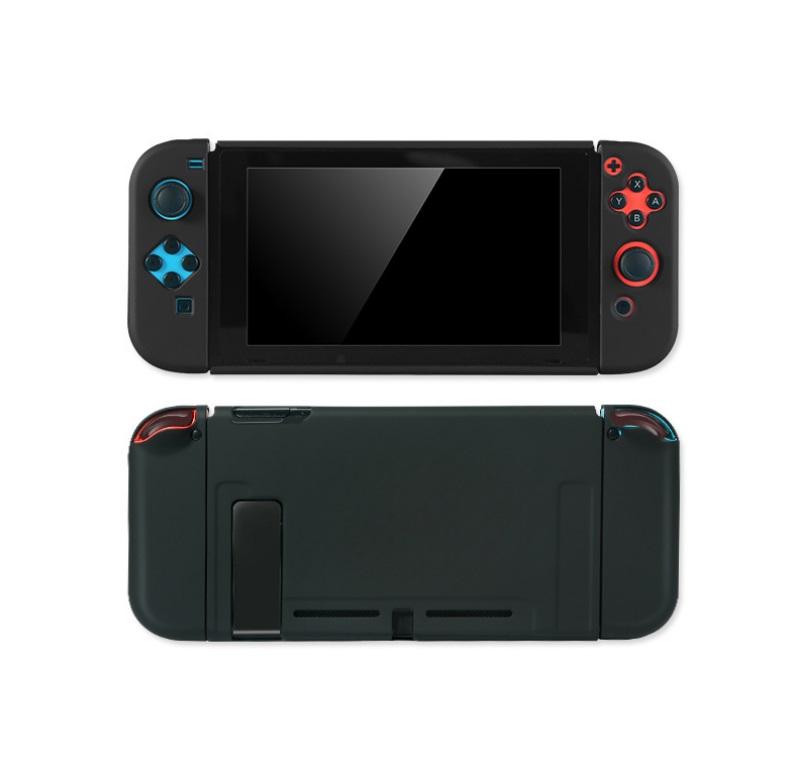 For Switch Host Plastic Split Protective Case Shell Cover Solid Color 17cm x 11cm x 3cm Black