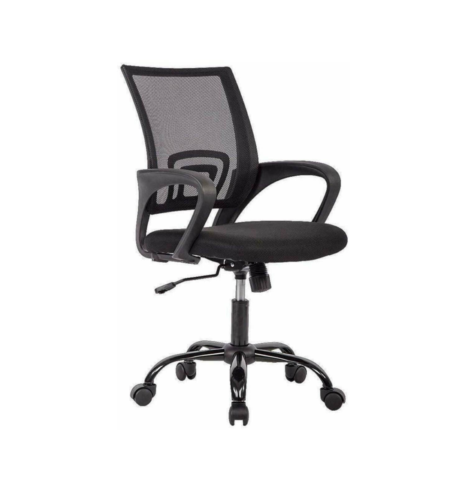 [US Direct] Art Life Mid Back Office Chair-Ergonomic Home Desk Chair with Lumbar Support-Mordern Mesh Computer Chair-Adjustable Rolling Swivel Chair (Red)