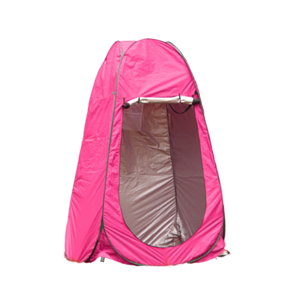 Changing Tent Room Portable Outdoor Instant Quick-opening Privacy Camping Shower Toile Rose red_Double