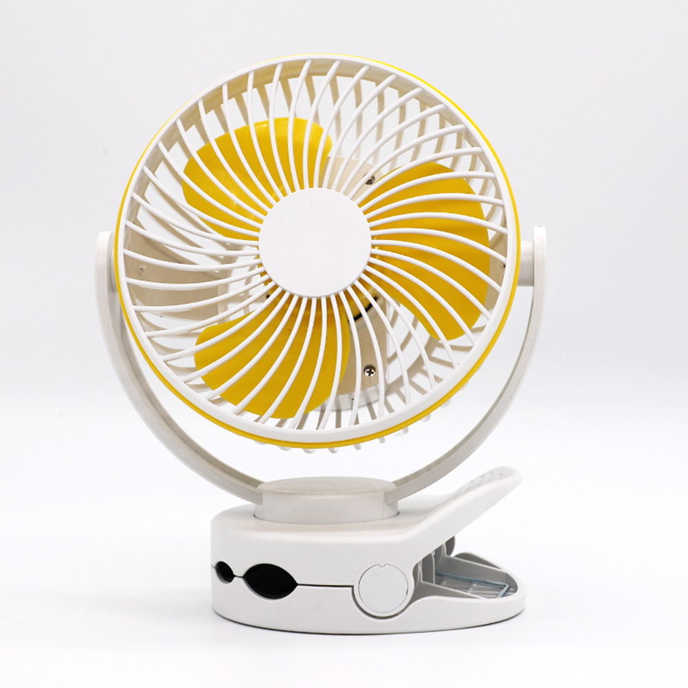 USB Rechargeable Clip Desktop Table Fan Mini Portable Clamp Fan Air Cooler Fan white_160 * 113 * 193MM