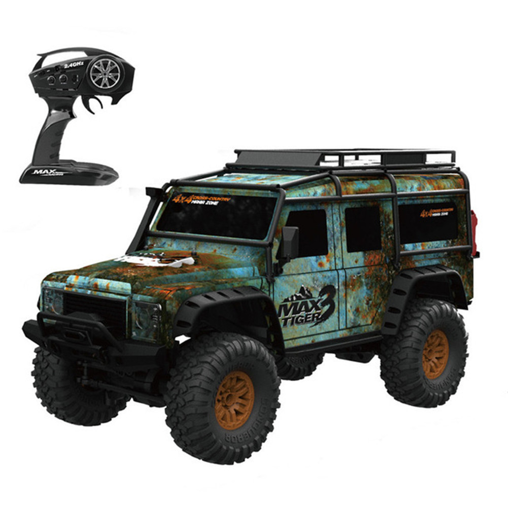 1/2 Battery HB ZP1001 1/10 2.4G 4WD Rc Rally Car Proportional Control Retro Vehicle LED Light RTR Model Outdoor Toys   green_Single battery