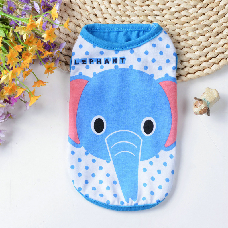 Colorful Summer Small Pet Dog Fashion Cartoon Vest T-shirt Cute Puppy Dog Clothes