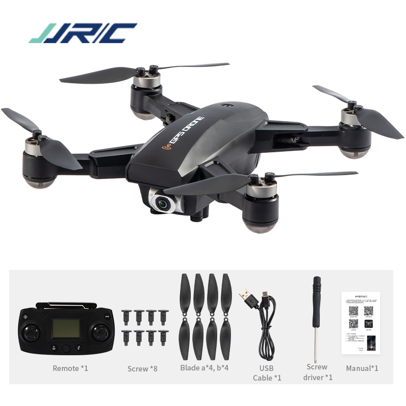 JRC X16 5G WIFI FPV GPS Foldable RC Drones with 6K HD Camera Optical Flow Positioning Brushless Motor Quadcopter M09 Black 1 battery