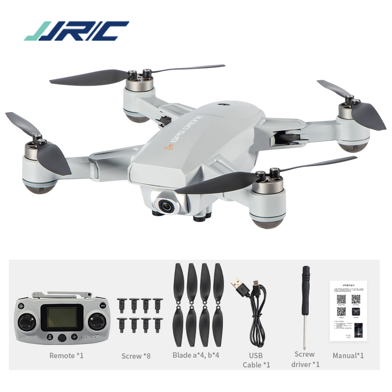 JRC X16 5G WIFI FPV GPS Foldable RC Drones with 6K HD Camera Optical Flow Positioning Brushless Motor Quadcopter M09 Gray 1 battery