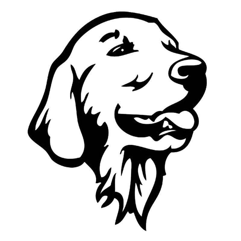 Cool Golden Retriever Dog Cute Pet Dog Decals Car Styling Sticker black