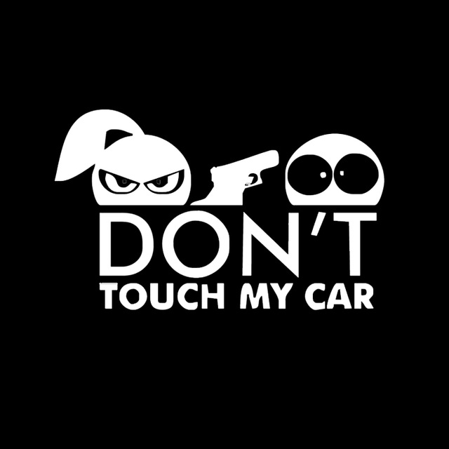 Car Styling Funny Car Sticker for Warning Do Not Touch My Car White