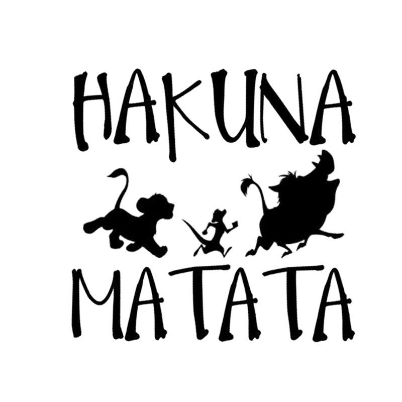 Delicate HAKUNA MATATA Lion King Simba Car-Styling  Car Sticker black