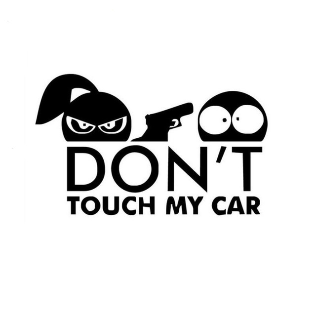 Car Styling Funny Car Sticker for Warning Do Not Touch My Car black