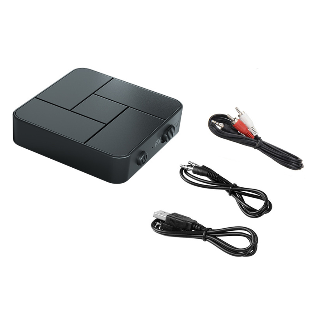 2-in-1 Bluetooth 5.0 Receiver Transmitter Tv Computer Projection To Wireless Earphone Amplifier Speaker Double line type