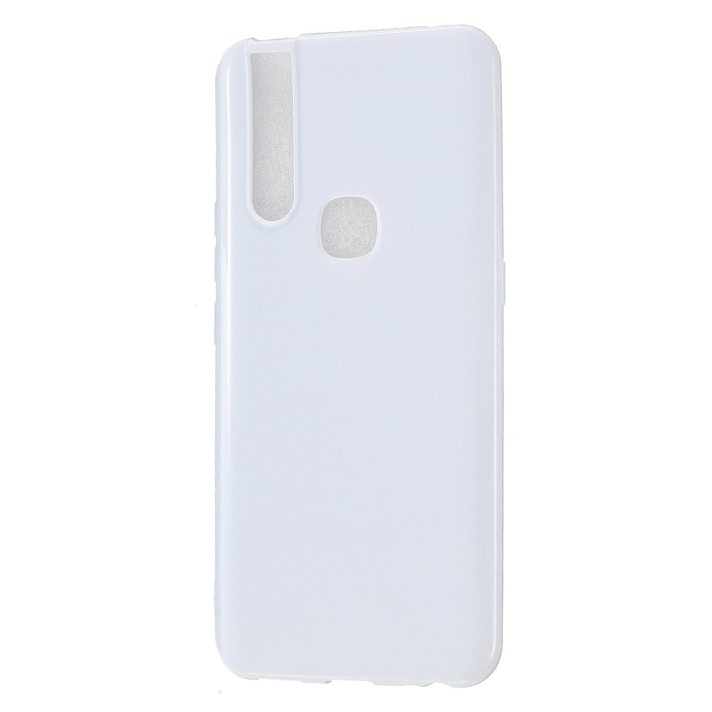 For VIVO V15/V15 Pro Cellphone Cover Slim Thin TPU Case Shock Absorption Mobile Phone Protective Cover  Milk white