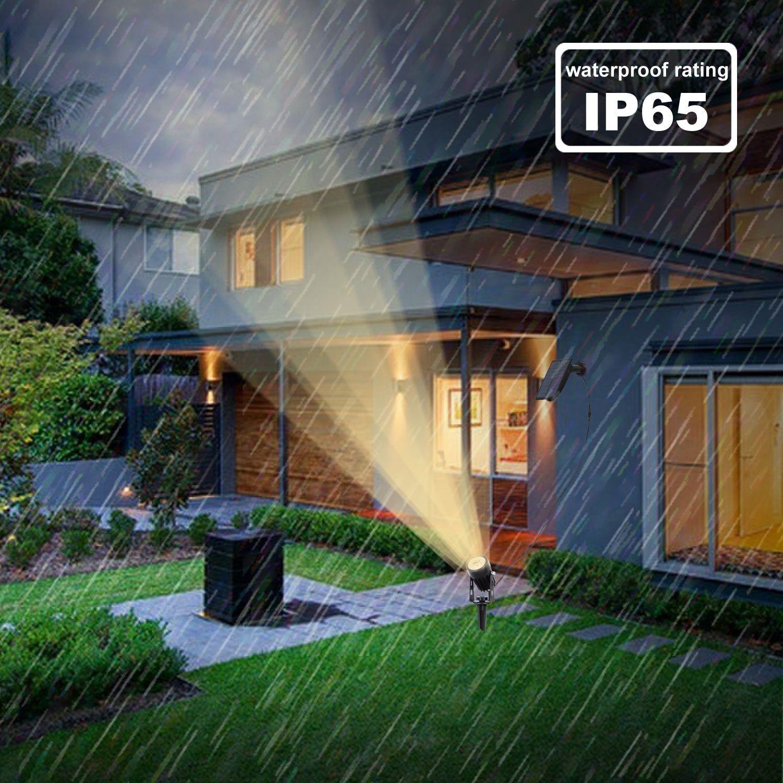 Solar Powered Lawn Light Outdoor Landscape Patio Garden Spotlight Lamp  3W white light (6000K)