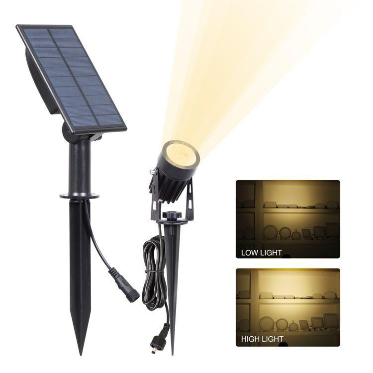 Solar Powered Lawn Light Outdoor Landscape Patio Garden Spotlight Lamp  3W warm light (3000K)