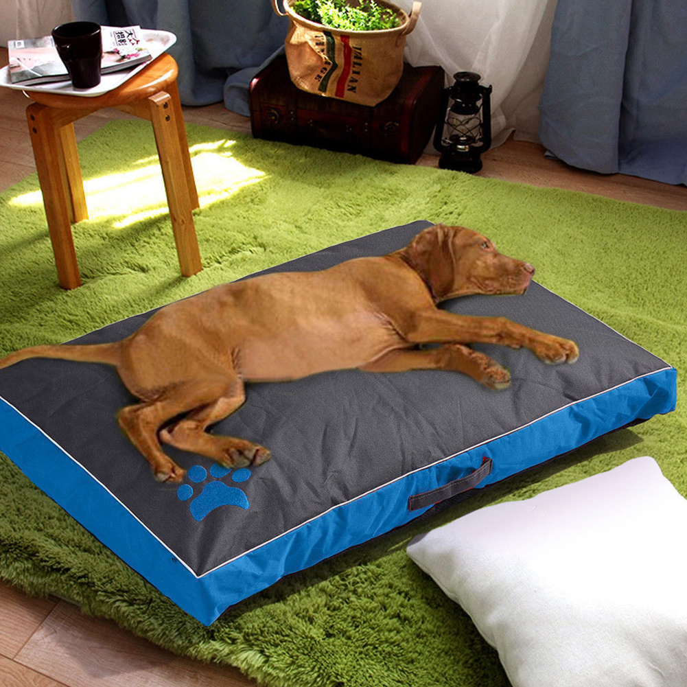 Summer Waterproof Removable Cover Pet Sleepling Cushion for Dogs blue_70X45X6CM