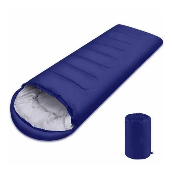 Multifuntional Envelope Sleeping Bag Warm Hooded Summer Sleeping Bags Outdoor Camping Adult Travel Lazy Sleep Bag Navy
