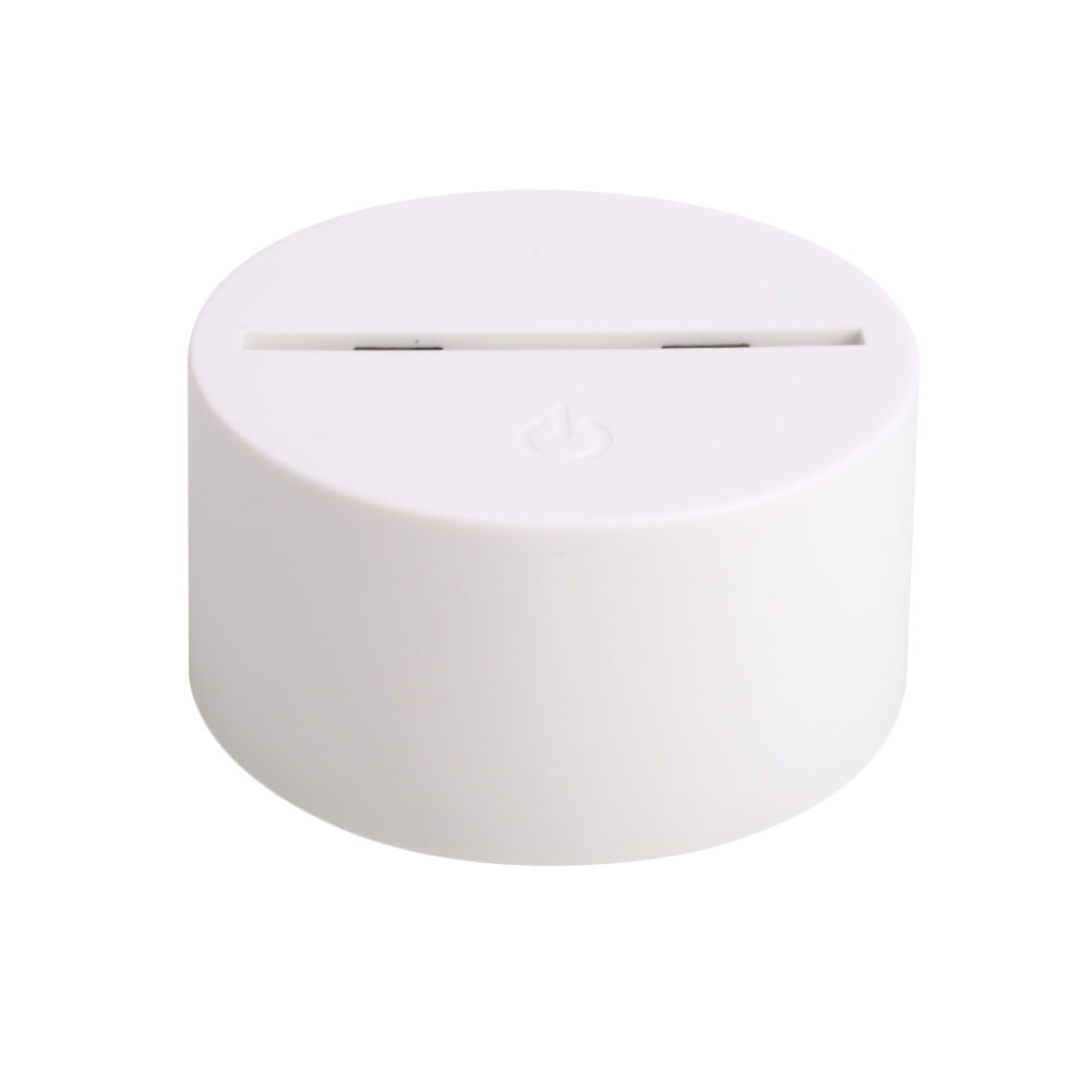 Touch Switch Light Base Pedestal for 3D Colorful LED Light (without Light) white