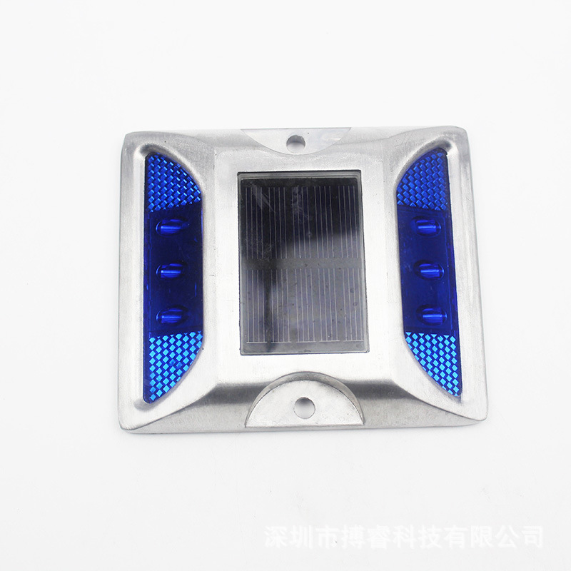 6LEDs Solar Road Stud Light Double Sided Cast Aluminum Lamp