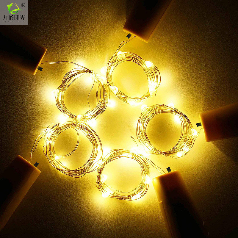 6PCS/set Solar Energy 8LED Waterproof Twinkle Light  warm light
