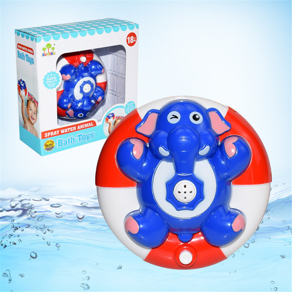 Baby Bath Cute Toy Electric Doll Water Game Tool Gifts of Children's Day Blue elephant