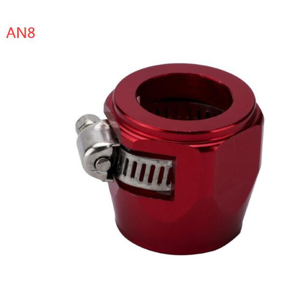 AN4 AN6 AN8 AN10 AN12 Car Hose Finisher Clamp Radiator Modified Fuel Pipe Clip Buckle Red-AN8