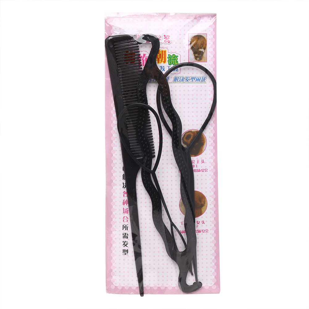 4 Pcs/set Hair Accessories Tie-half-ball Head Hair Iron Fluffy Shape Flower Headdress black