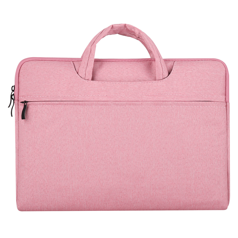 Portable Storage Bag Oxford Cloth Laptop Bag Waterproof Protective Storage Bag Pink_13.3 inches