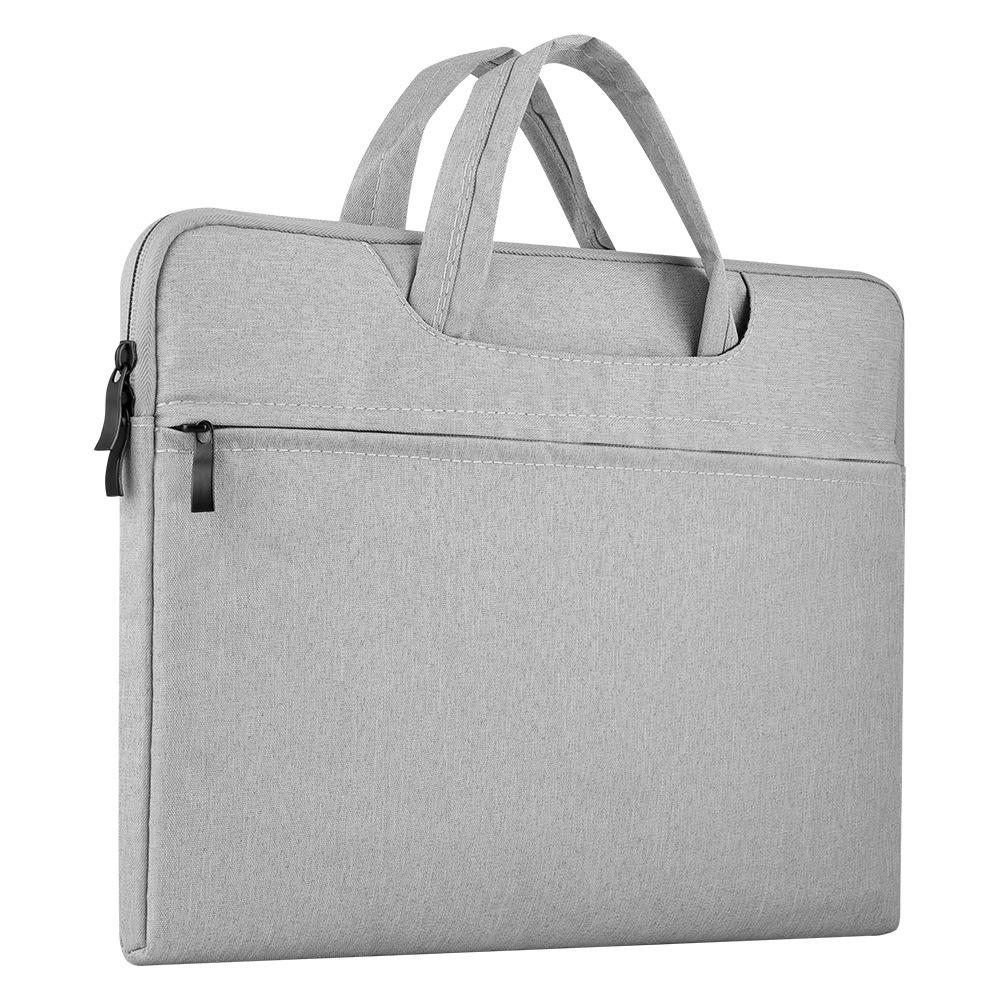 Portable Storage Bag Oxford Cloth Laptop Bag Waterproof Protective Storage Bag light grey_15.6 inches