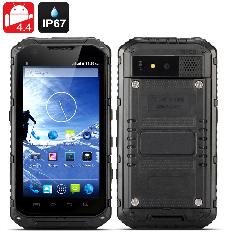 Android Rugged Smartphone 'Ox II' (Black)