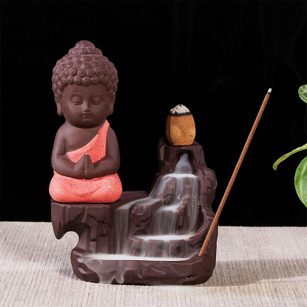 The Little Monk Backflow Incense Burner / Incense Cones Home Decoration Red incense burner
