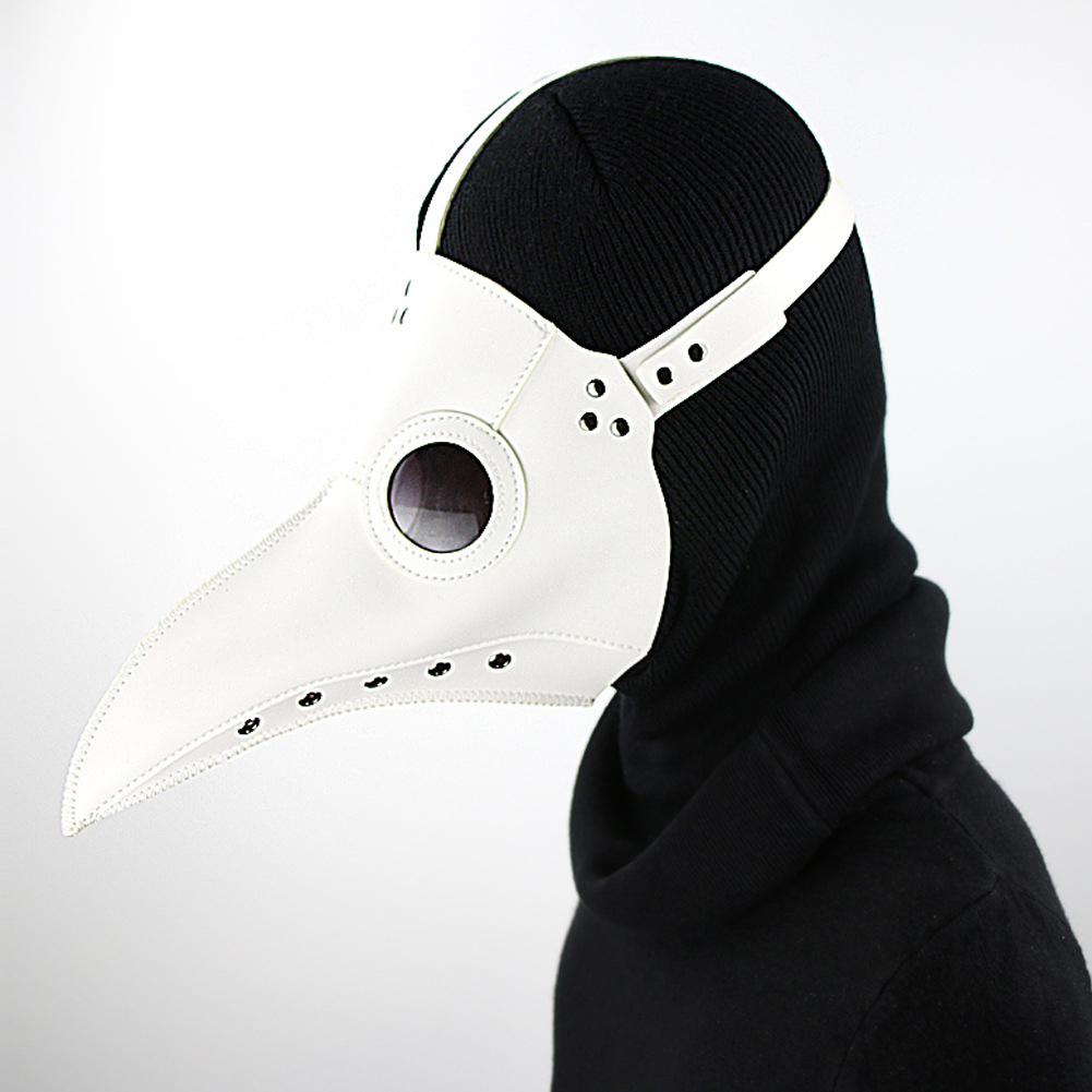 Plague Bird Mouth Doctor Mask Cos Halloween Holiday Party Dance Props white