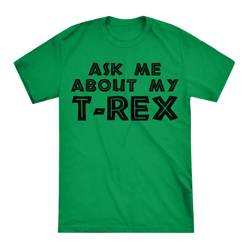 Men Women Unique Funny Reversible Cartoon Short Sleeve T-Shirt green_L