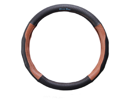 Leather Auto Car Steering Wheel Cover Durable Non-slip Cover Fit Diameter 36cm 38cm 40cm