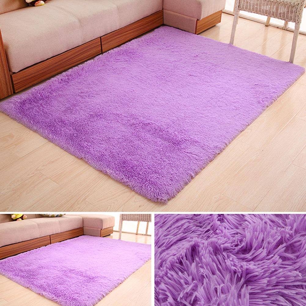 50X80CM Bathroom Mat Non-Slip Water Absorbent Super Plush Washable Bathroom Rug purple