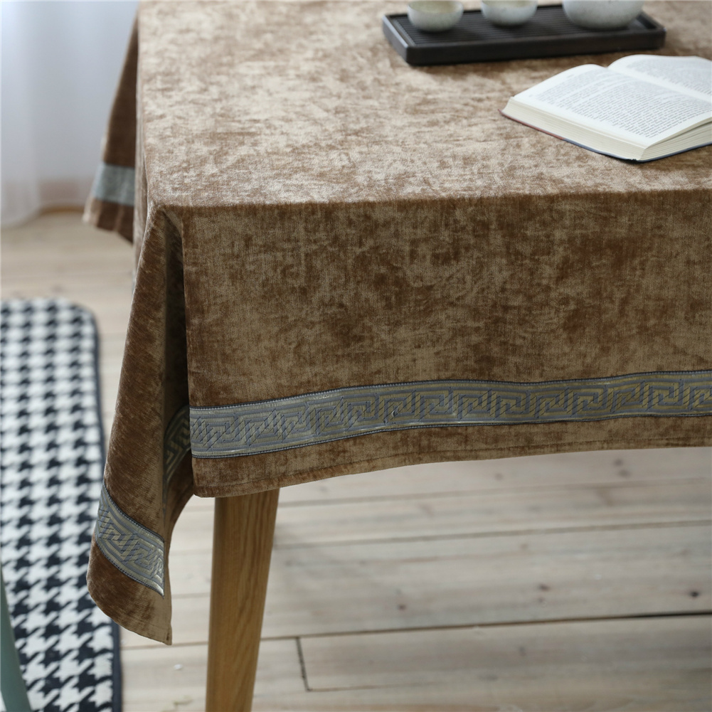 Cotton Linen Flannel Table  Cloth For Indoor Outdoor Decorative Table Cover 130*130cm