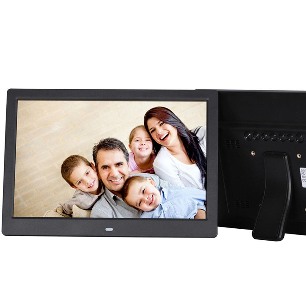 12 Inch Digital Photo Frame HD 1280x800 LED Back-light Electronic Album Picture Music Video Gift Black UK plug