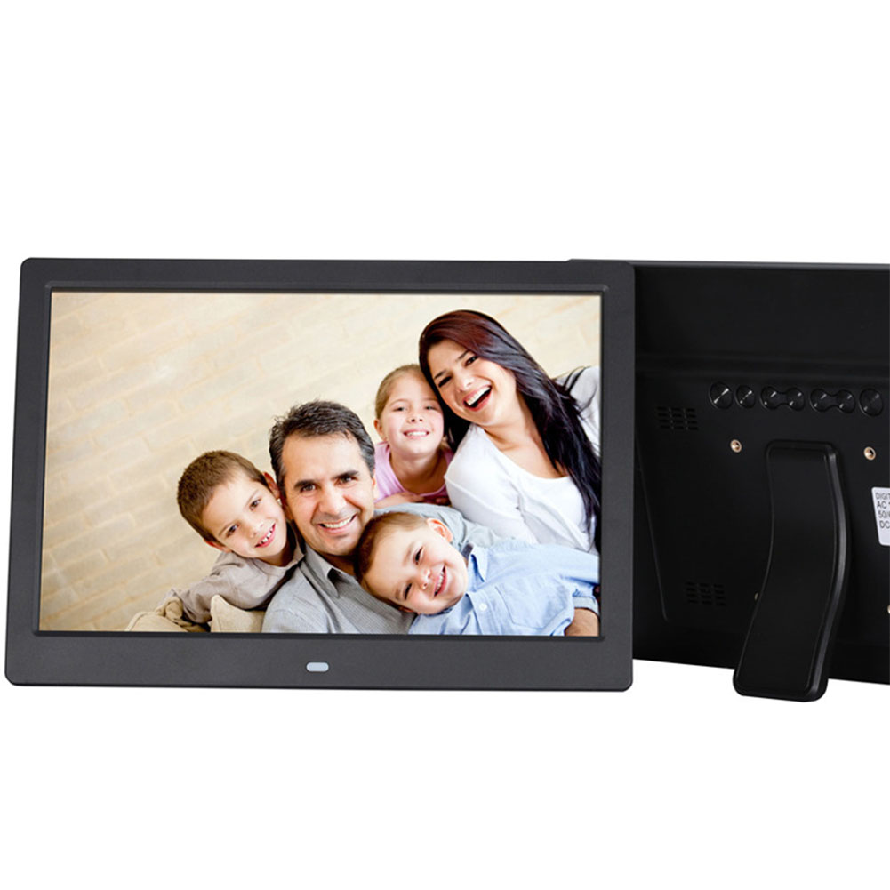 12 Inch Digital Photo Frame HD 1280x800 LED Back-light Electronic Album Picture Music Video Gift Black AU plug
