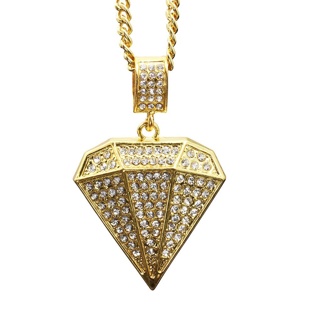 Unisex Large Diamond Popular Hip-hop Pendant Necklace
