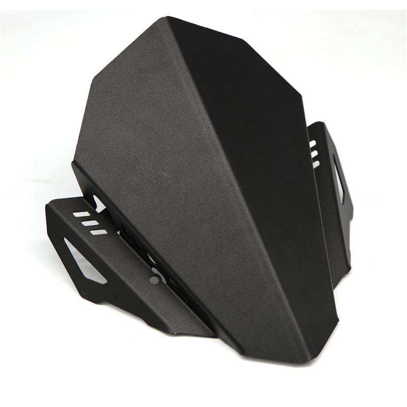 Motorcycle CNC Windshield Windscreen Aluminum Kit Deflector Fits for YAMAHA MT07 MT-07 18-19 black